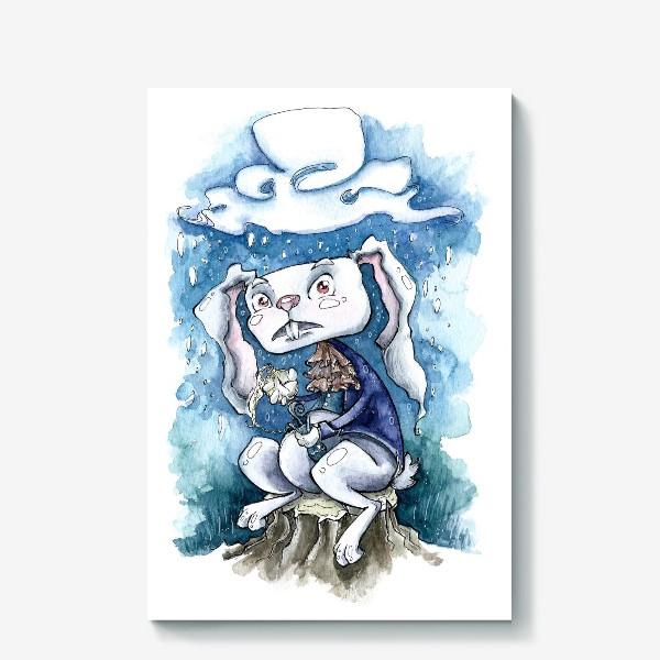 Холст «Белый кролик»