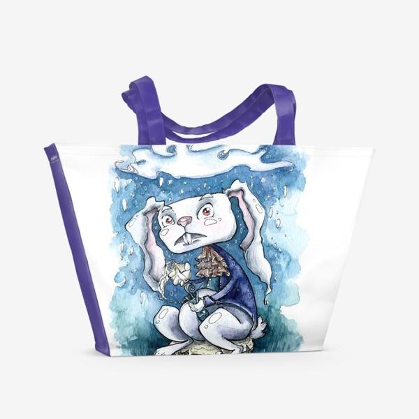 Пляжная сумка «Белый кролик»