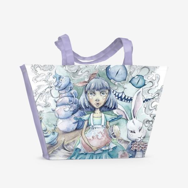 Пляжная сумка «Алиса в Стране Чудес»