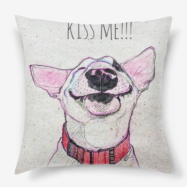 Подушка «Kiss from bull terrier»