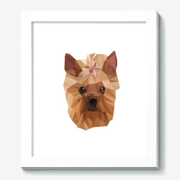 Картина «Йоркширский терьер, милейшая собака в стиле лоу-поли»