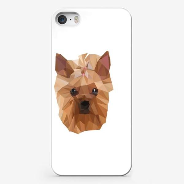 Чехол iPhone «Йоркширский терьер, милейшая собака в стиле лоу-поли»