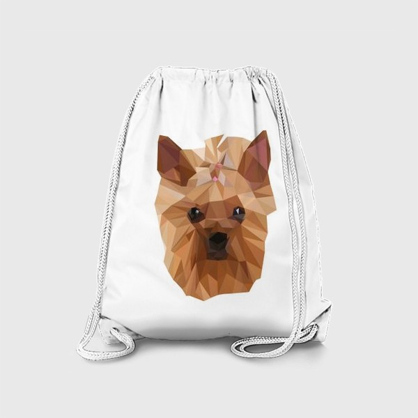 Рюкзак «Йоркширский терьер, милейшая собака в стиле лоу-поли»