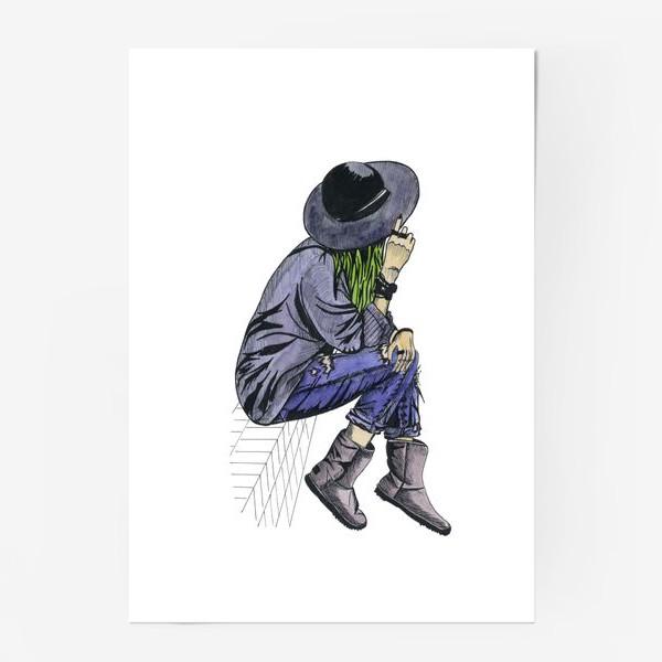 Постер «Девушка в шляпе»