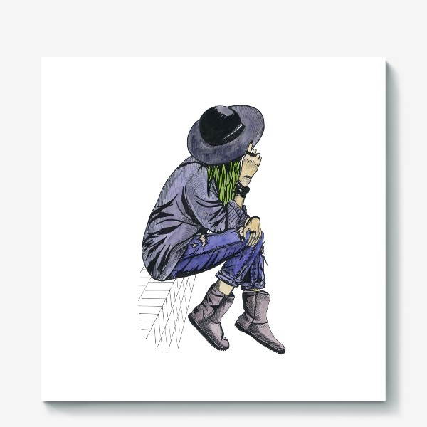 Холст «Девушка в шляпе»