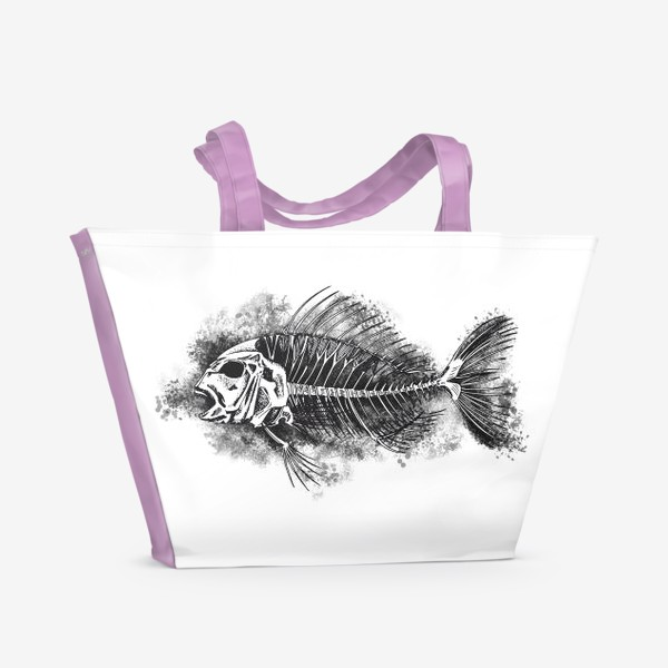 Пляжная сумка «скелет рыбы»