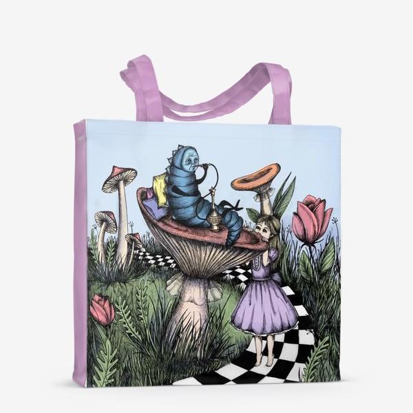 Сумка-шоппер «Синяя гусеница дает совет»