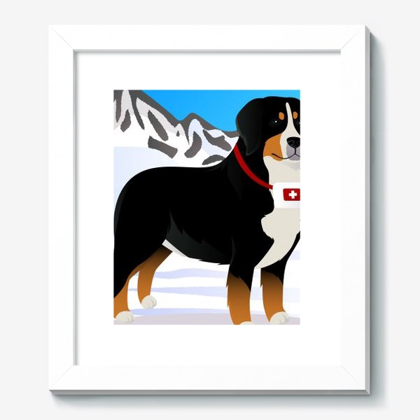 Картина «Бернский Зенненхунд спасатель»