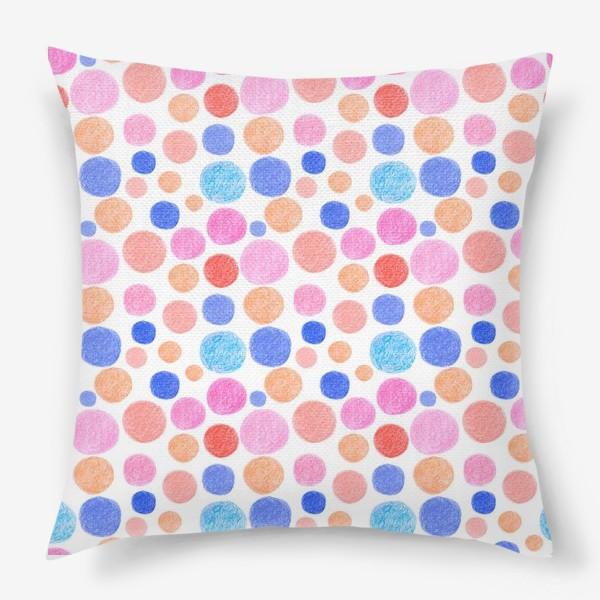 Подушка «Цветные кружочки»