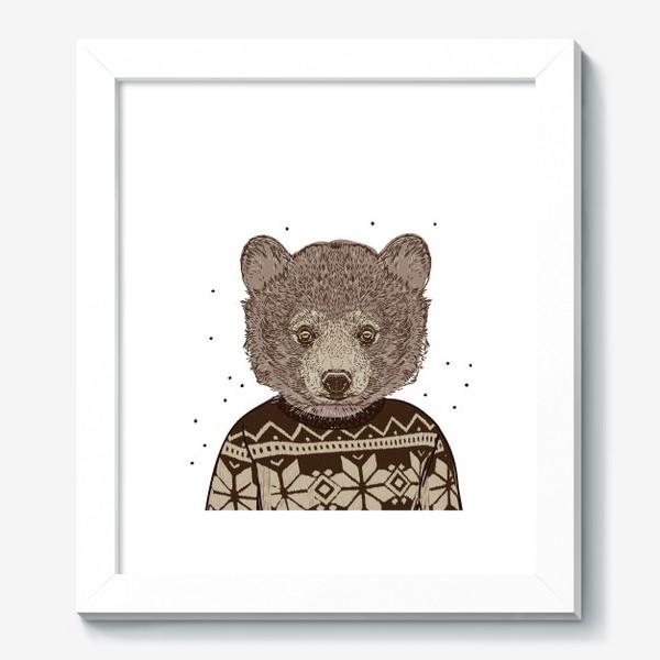 Картина «Медведь в свитере»