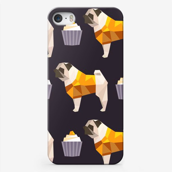 Чехол iPhone «люблю мопсов»