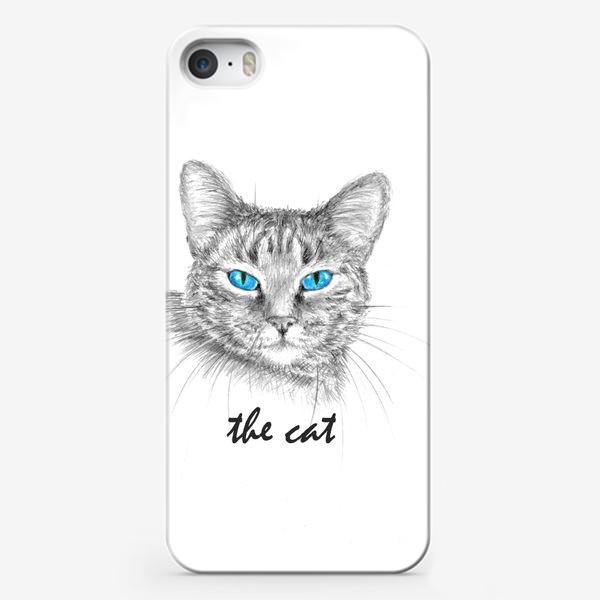 Чехол iPhone «Кот. Голубые глазки.»