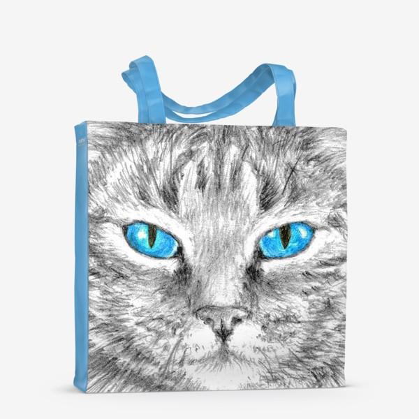 Сумка-шоппер «Кот. Голубые глазки.»