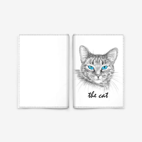 Обложка для паспорта «Кот. Голубые глазки.»