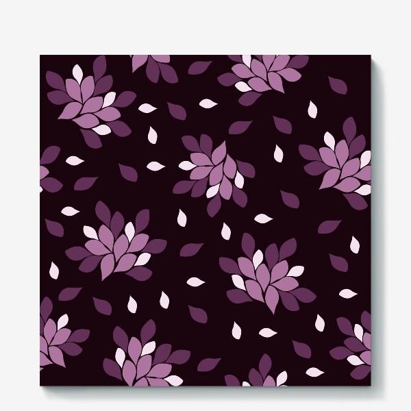 Холст «Фиолетовый паттерн»