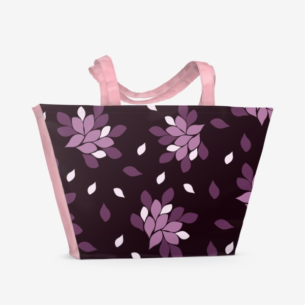 Пляжная сумка «Фиолетовый паттерн»