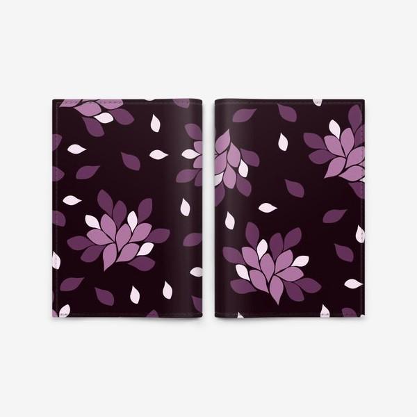 Обложка для паспорта «Фиолетовый паттерн»