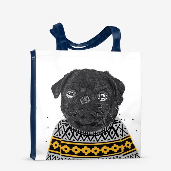 Сумка-шоппер «Собака в свитере»