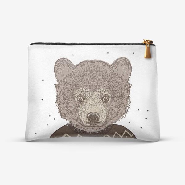 Косметичка «Медведь в свитере»