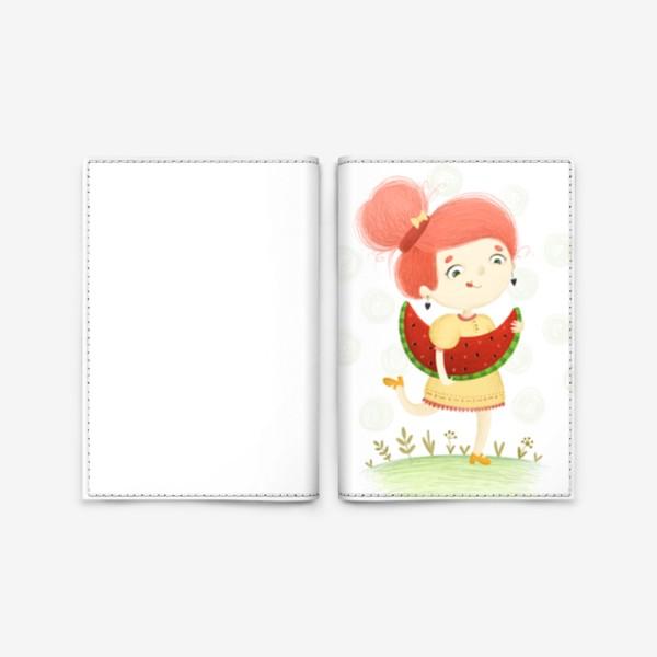 Обложка для паспорта «Арбузная девочка»