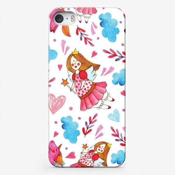 Чехол iPhone «Феи и единороги»