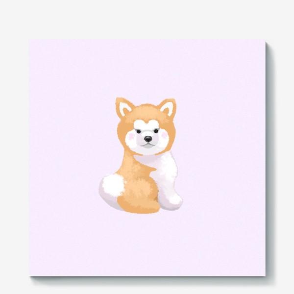 Холст «Пушистый пес»