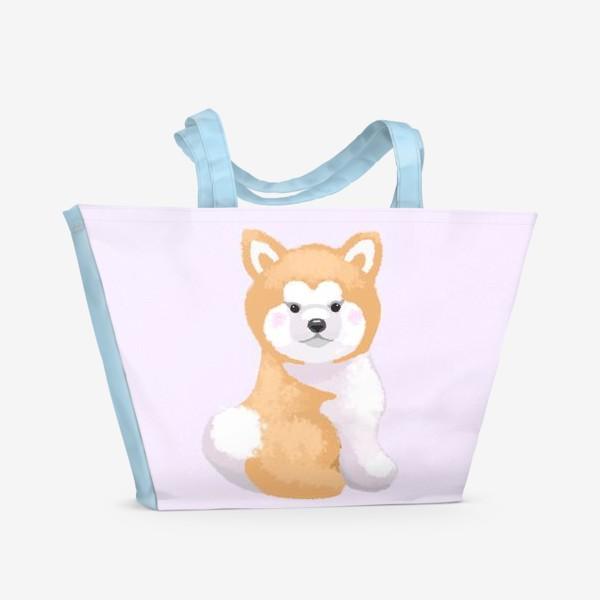 Пляжная сумка «Пушистый пес»
