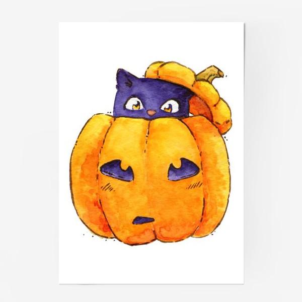 Постер «Тыква-котик»