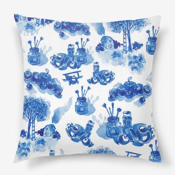 Подушка «Лето в синих тонах»
