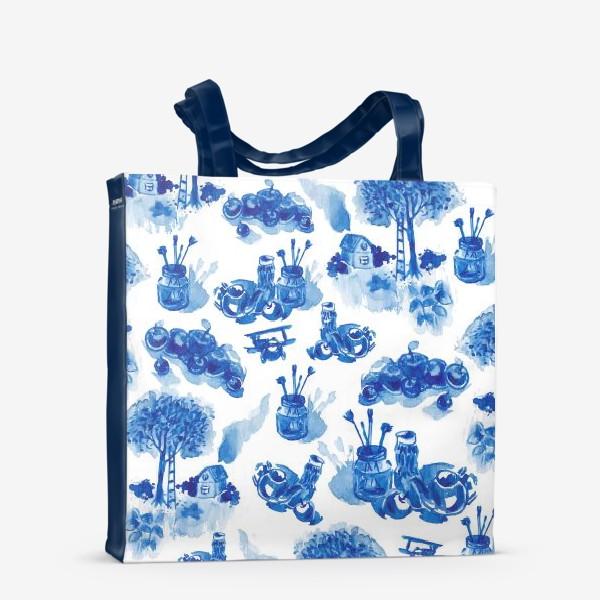 Сумка-шоппер «Лето в синих тонах»