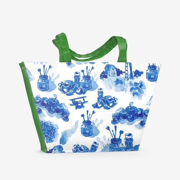 Пляжная сумка «Лето в синих тонах»