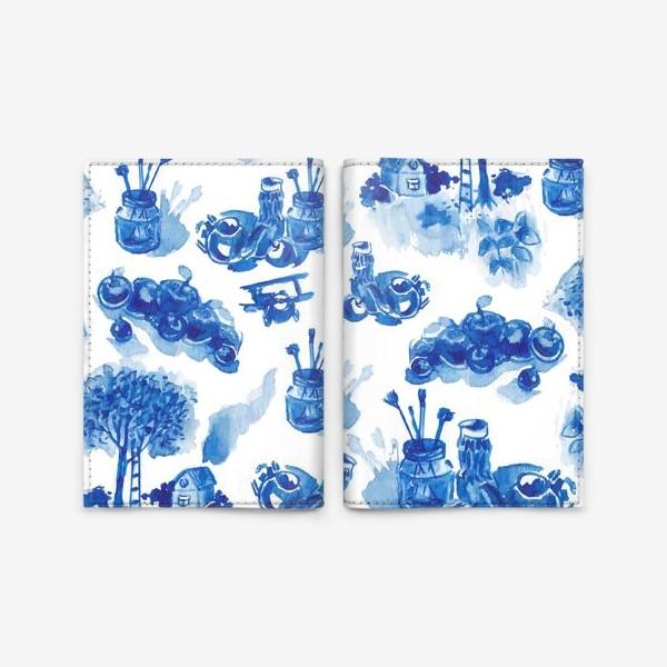 Обложка для паспорта «Лето в синих тонах»