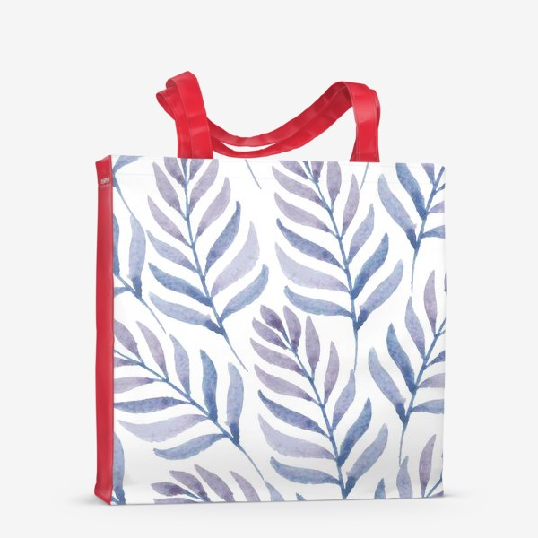 Сумка-шоппер «Фиолетовые  акварельные листья »