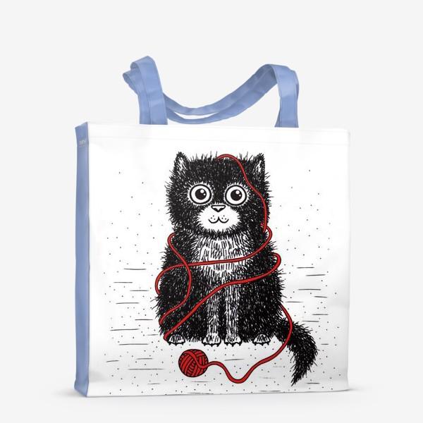 Сумка-шоппер «Кот и пряжа»