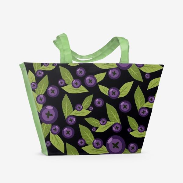Пляжная сумка «Черничное настроение»