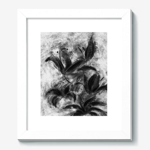 Картина «черно-белые лилии»