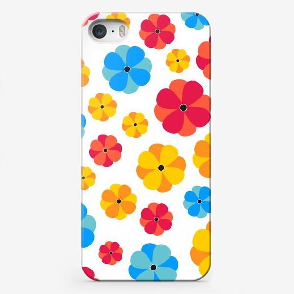 Чехол iPhone «Цветочки на белом фоне»