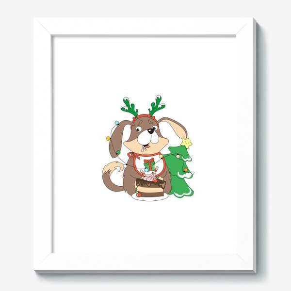 Картина «собака праздничная»