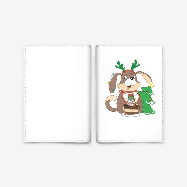 Обложка для паспорта «собака праздничная»