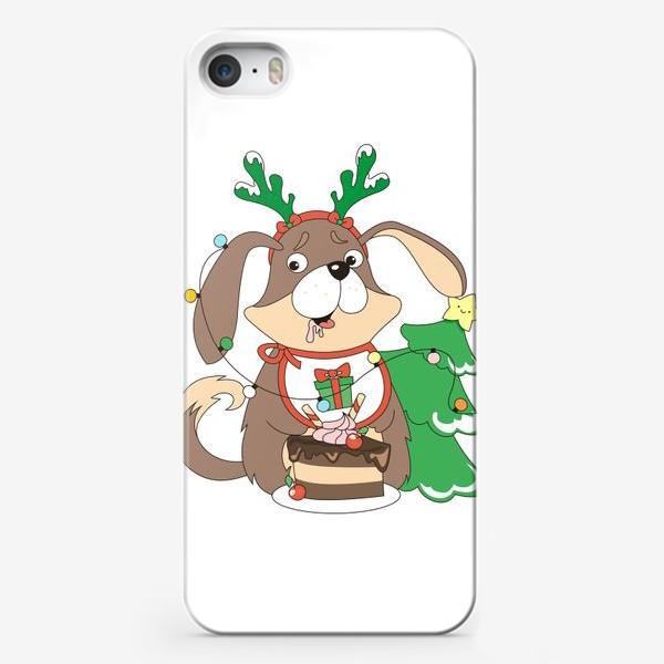 Чехол iPhone «собака праздничная»