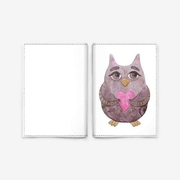 Обложка для паспорта «Совушка»