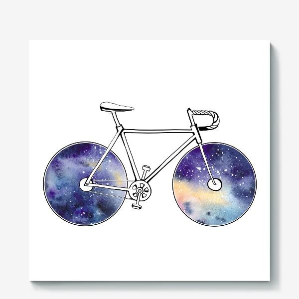 Холст «Космический Велосипед»