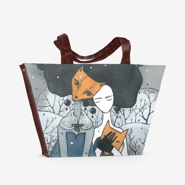 Пляжная сумка «случай в лесу (4)»