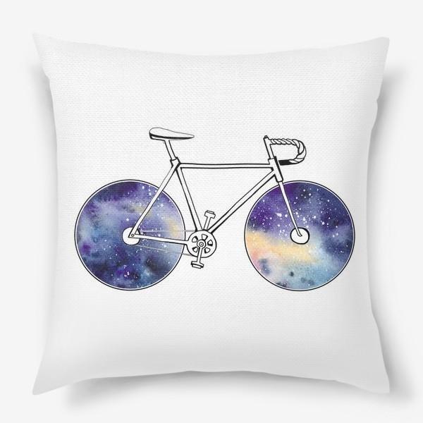 Подушка «Космический Велосипед»