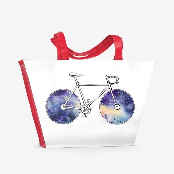Пляжная сумка «Космический Велосипед»