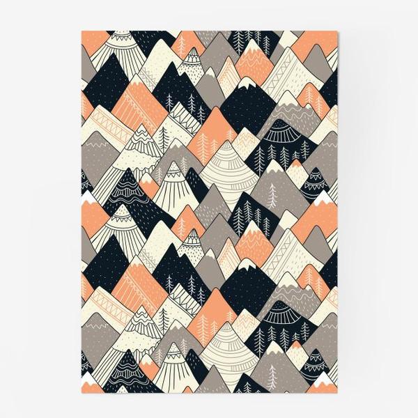 Постер «горы в скандинавском стиле»