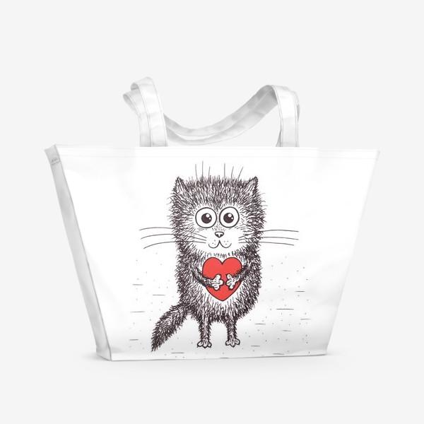 Пляжная сумка «Котенок»