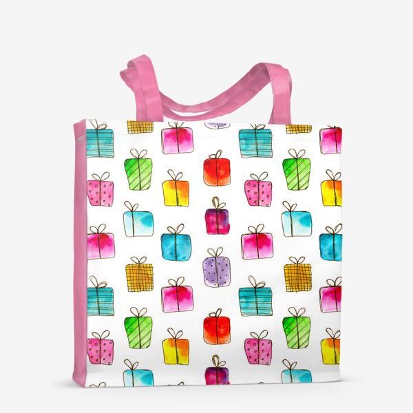 Сумка-шоппер «Много подарков // акварель»
