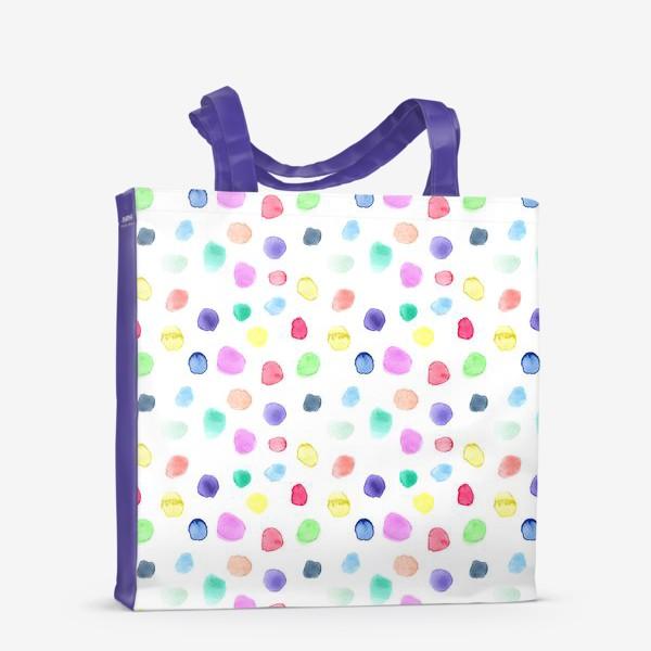 Сумка-шоппер «Акварельные конфетти»