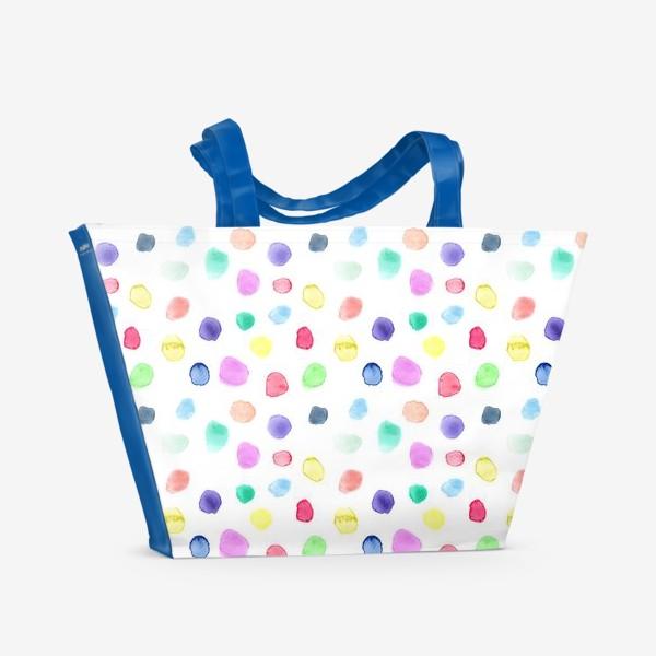 Пляжная сумка «Акварельные конфетти»